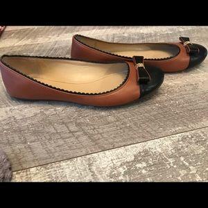 COACH Tan & Black Flats Women's Size 8.5